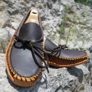 Mens Copper Caprice With Dark Brown Toe Plug & Collar Canoe