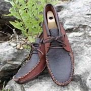 Men's Double Chocolate Batwing With Bull Hide Sole