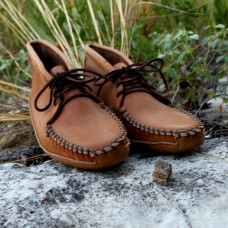 Men's Saddle Tan Batwing Moccasin
