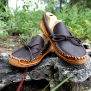 Men's Brown Distressed & Toast Suede With Canoe Sole