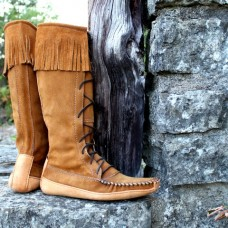 Men's Suede Knee High Boot With Canoe Sole