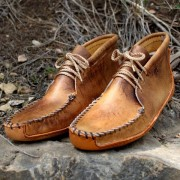 Women's Tan Distressed Batwing With Canoe Sole