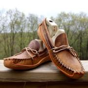 Women's Tan Distressed Plain Toe W / Canoe Sole