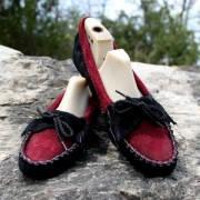 Women's 2-Tone Suede Soft Sole Moccasin