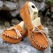 Kids Suede Soft Sole Moccasin